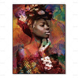 African Wall Art Portrait Printed on Canvas Unframed - Avenila - Interior Lighting, Design & More