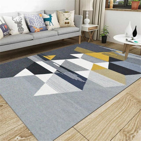 Anti-Slip Area Rug, Light Geometry - Avenila - Interior Lighting, Design & More