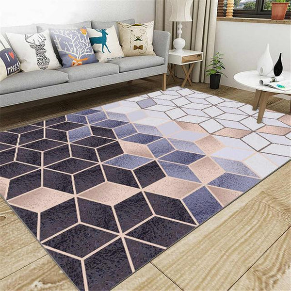 Anti-Slip Living Room Rug, 3D Cubic Style - Avenila Select - Avenila - Interior Lighting, Design & More