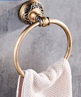 Antique Bronze Carved Bathroom Accessories Set Aluminum Bath Hardware Sets Towel Rack, Paper holder Toilet Brush Holder - Avenila - Interior Lighting, Design & More
