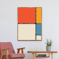 Avenila Bauhaus Abstract Art Prints Minimalist Poster Fuhrend In Der Herrenmode Art Canvas Painting Picture Home Wall Art Decor - Avenila - Interior Lighting, Design & More