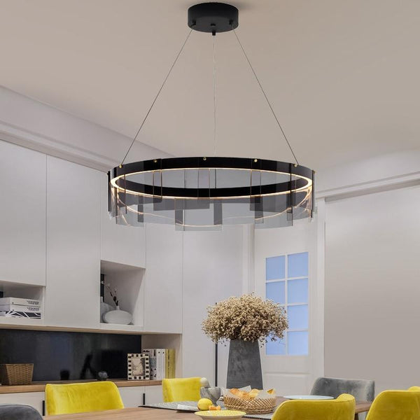 Avenila Black & Grey Metal Glass Luxury Chandelier - Avenila - Interior Lighting, Design & More
