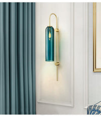 Avenila Creative Blue and White Glass Tube Wall Sconce Light - Avenila - Interior Lighting, Design & More