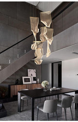 Avenila Luxury Acrylic Stainless Steel LED Hanging Pendant Chandelier - Avenila - Interior Lighting, Design & More