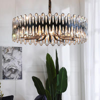 Avenila Luxury Black Crystal Oval Adjustable Pendant Chandelier - Avenila - Interior Lighting, Design & More