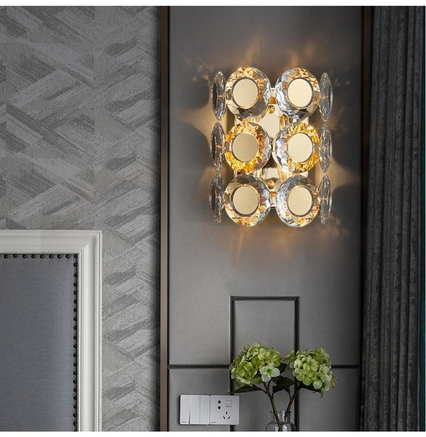 Avenila Luxury Gold Crystal Bedside Wall Sconce - Avenila - Interior Lighting, Design & More