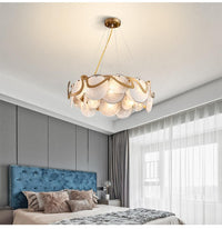 Avenila Metal & Glass Gold Hanging Chandelier 60cm - Avenila - Interior Lighting, Design & More