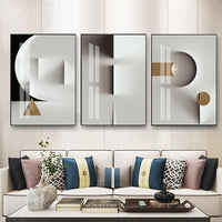 Avenila Modern Geometric Shapes Living Room Wall Art Poster No Frame Included - Avenila - Interior Lighting, Design & More