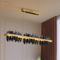 Avenila New Modern Designer Straight Lava Chandelier - Avenila - Interior Lighting, Design & More