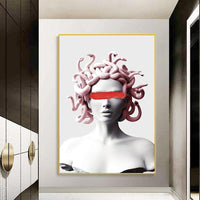 Avenila Painting Of Medusa Snakes Canvas Art Posters Graffiti Wall Art - Avenila - Interior Lighting, Design & More