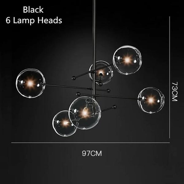 Avenila Postmodern LED Glass Ball Chandelier Ceiling Hanging Lights - Avenila - Interior Lighting, Design & More
