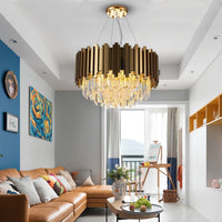 Avenila Select Modern Gold Chrome Polished Steel Chandelier - Avenila - Interior Lighting, Design & More