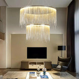 Avenila Silver Rose Gold Luxury Chain Tassel Chandelier - Avenila - Interior Lighting, Design & More