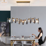 Avenila Smoky Grey Flush Mount Crystal Wave Linear Modern Chandelier - Avenila - Interior Lighting, Design & More