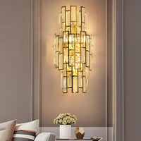 Avenila Speciality Modern Crystal Gold Wall Hotel Sconce Lamp - Avenila - Interior Lighting, Design & More