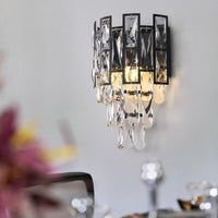 Avenila Speciality Smoke Black Crystal Wall Sconce Light 1pcs - Avenila - Interior Lighting, Design & More