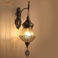 Avenila Turkish Art Decor Ice-Cracked Glass Wall Lamp for Exotic Restaurant Hotel Bar Cafe Retro Sconce Light - Avenila - Interior Lighting, Design & More