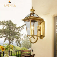 Avenila Waterproof IP65 Copper Garden Balcony Porch Foyer Outdoor Wall Light - Avenila - Interior Lighting, Design & More