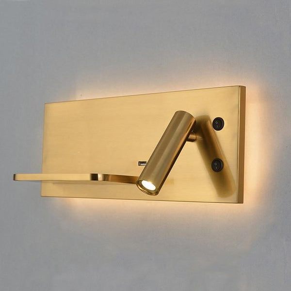 Bedroom Adjustable Wall Light w/ Phone Holder & USB Outlet - Avenila Select - Avenila - Interior Lighting, Design & More