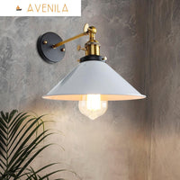 Black and White Vintage Wall Lamp Indoor Lighting Knob Switch - Avenila - Interior Lighting, Design & More