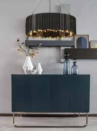 Black & Gold Stainless Steel Modern LED Chandelier - Avenila - Interior Lighting, Design & More