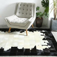 Black & White Luxury Cowhide Fur Rug - Avenila - Interior Lighting, Design & More