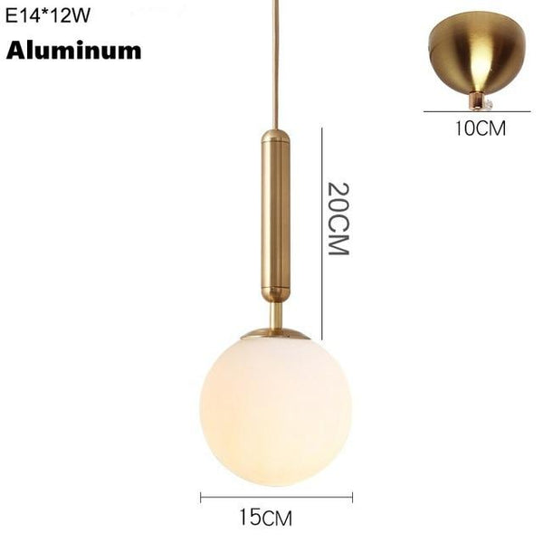 Brass Aluminum Loft Pendant Glow Light - Avenila - Interior Lighting, Design & More