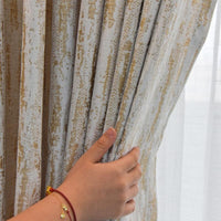 Chenille Jacquard Curtains for Living Room Retro Shiny Luxury Drapes for Bedroom High-Grade Window Treatments Single Panel - Avenila - Interior Lighting, Design & More