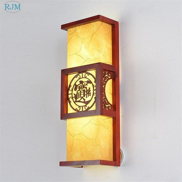 Chinese Style Imitation Creative Wood Wall Lamp - Avenila - Interior Lighting, Design & More
