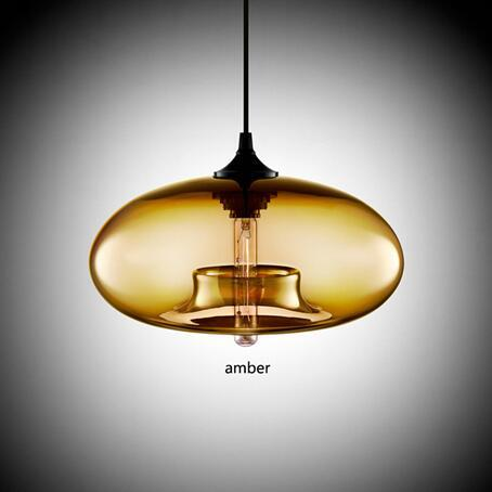 Contemporary Hanging 6 Color Glass Pendant Lights - Avenila - Interior Lighting, Design & More