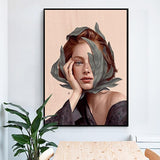 Creative Anime Alien Girl Canvas Painting Bird Leaf Flowers Butterfly Poster Print Wall Art For Living Room - Avenila - Interior Lighting, Design & More