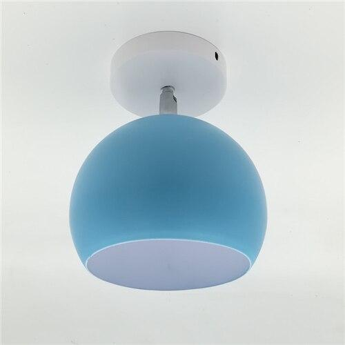 Creative Round Iron E27 Ceiling Light Nordic Modern Macaron LED Ceiling Lamp - Avenila - Interior Lighting, Design & More