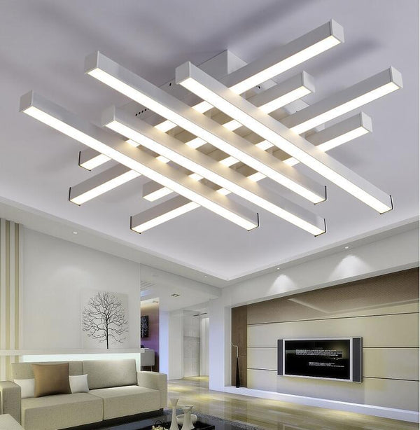Criss Cross Designer LED Ceiling Lights with Remote Control - Avenila - Interior Lighting, Design & More