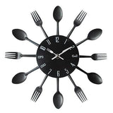 Cutlery Metal Kitchen Wall Clock Spoon Fork Creative Quartz Wall Mounted Clock - Avenila - Interior Lighting, Design & More