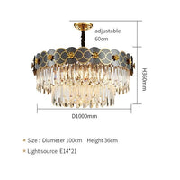 Double Layer Luxury LED Crystal Flower Icicle Chandelier - Avenila - Interior Lighting, Design & More