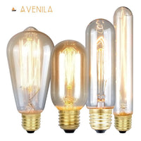 Edison Bulb Vintage Lamps Incandescent Bulbs Retro lamp Industrial Light Bulb E27 85-260V 40W - Avenila - Interior Lighting, Design & More