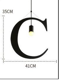 English Alphabet LED Kitchen Pendant Lights - Avenila - Interior Lighting, Design & More