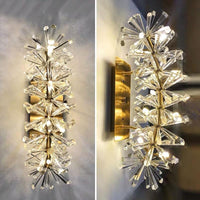 Flower Pattern Crystal Hallway Wall Sconces - Avenila - Interior Lighting, Design & More