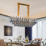 Flush Mount Rectangle Water Drop Luxury Chandelier - Avenila - Interior Lighting, Design & More