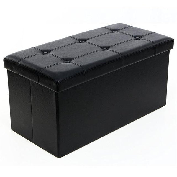 Folding Cuboid Ottoman Bench Storage Box - Avenila - Interior Lighting, Design & More