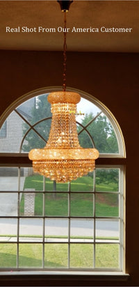 French Empire Gold Crystal Chandelier - Avenila - Interior Lighting, Design & More