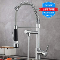 Gavaer Spring Pull Down Kitchen Faucet Dual Mode - Avenila - Interior Lighting, Design & More