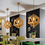 Geometric Solid Wood Pendant Lights with Bulb - Avenila - Interior Lighting, Design & More