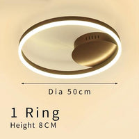 Gold Circular LED Rings Ceiling Light Chandelier - Avenila - Interior Lighting, Design & More