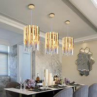Gold Crystal Kitchen Pendant Hanging Lights - Avenila - Interior Lighting, Design & More