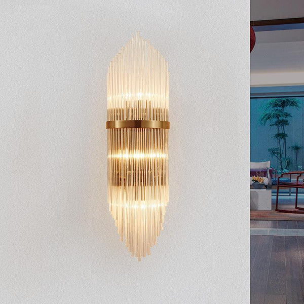 Golden Luxury Indoor Living Room Crystal Wall Lamp - Avenila - Interior Lighting, Design & More