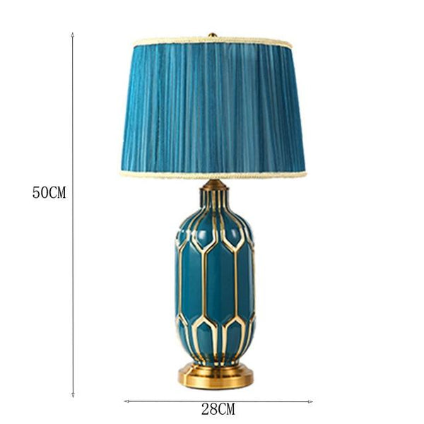 Hand Painted LED Dimming Table Lamps Idyllic Blue - Avenila - Interior Lighting, Design & More