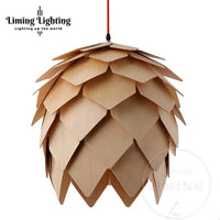 "Hanging Pinecone Style 9.8"" to 19.7"" Wooden Lamp Pendant Shade for Lights - Avenila - Interior Lighting, Design & More"
