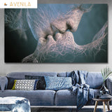 Human Nerve Endings Abstract Kiss of Fate Unframed - Avenila - Interior Lighting, Design & More