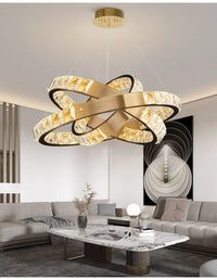 Inside Outside Luxury Gold & Black Multi-Ring Chandelier - Avenila - Interior Lighting, Design & More
